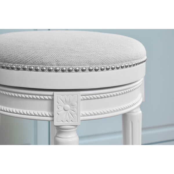 Chapman Alabaster White Backless Counter Height Stool, image 3