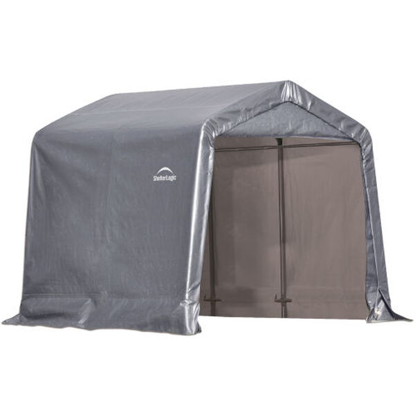 Shed in a Box Gray 8 x 8 x 8 Feet Peak Style Storage Shed, image 1