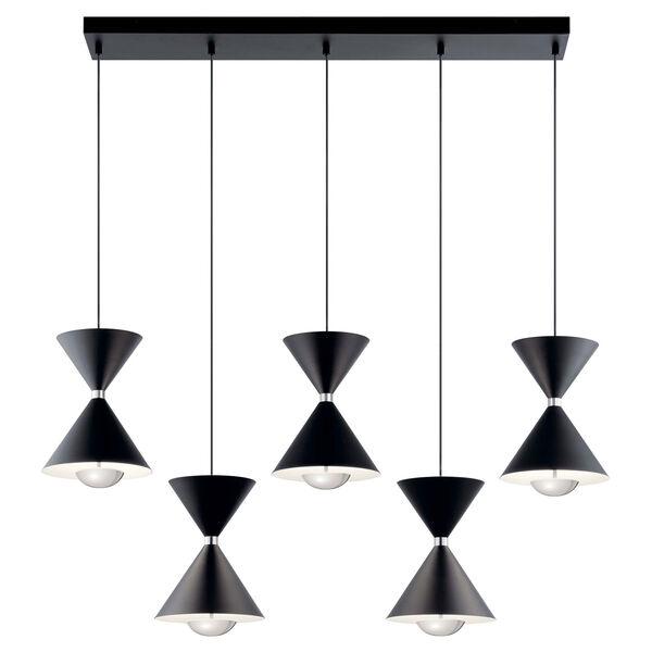 Kordan Black Five-Light LED Pendant, image 2