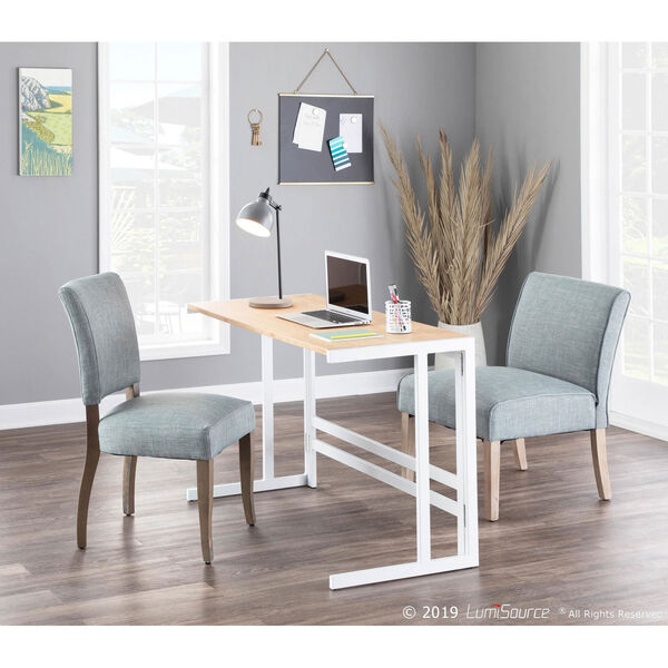 Roman White and Natural 45-Inch office Desk, image 4