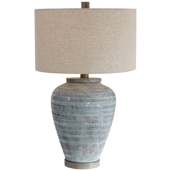 Pelia Aqua Blue Table Lamp, image 1