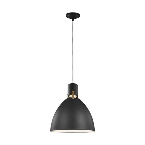 Knole Black 14-Inch LED Dome Pendant, image 2