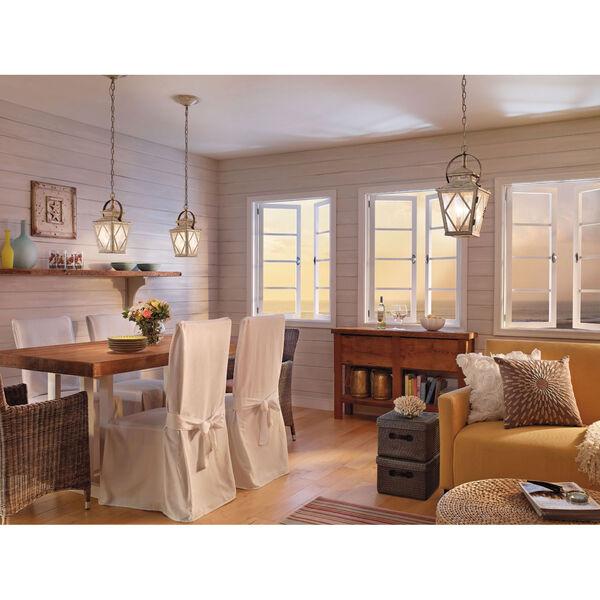 Hayman Bay Two-Light Distressed Antique White Interior Lantern Pendant, image 3