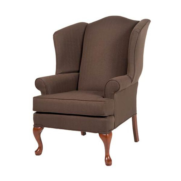 Erin Brown Wing Back Chair, image 1