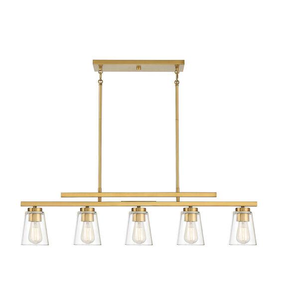 Calhoun Warm Brass Five-Light Mini Chandelier, image 1