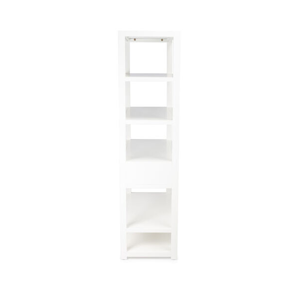 Lark White 39-Inch Rectangular Bookshelf, image 5