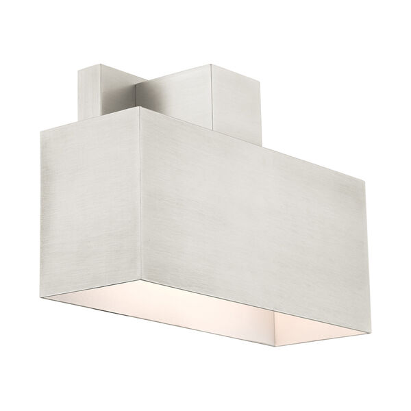 Lynx Brushed Nickel Nine-Inch One-Light Outdoor ADA Wall Sconce, image 5