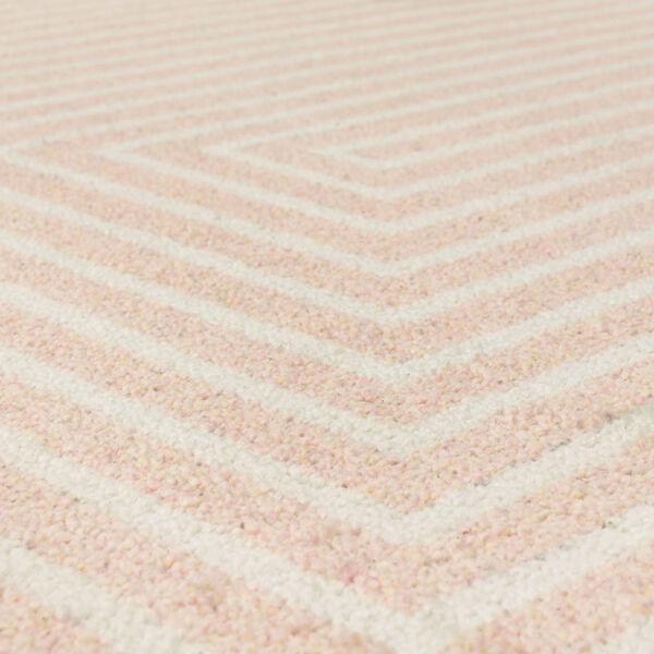 Concentric Pink Geometric Rectangular: 8 Ft. x 10 Ft. Area Rug, image 6