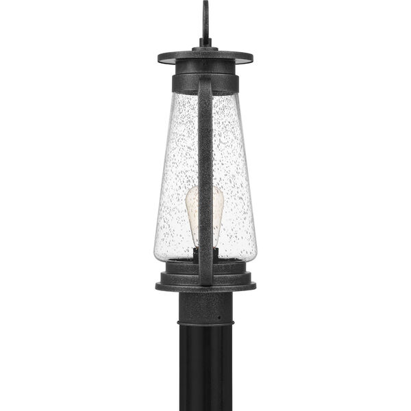 Sutton Speckled Black One-Light Outdoor Post Mount, image 4