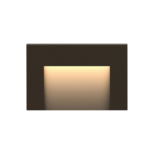 Taper Bronze 2700K LED Deck Light with Etched Glass, image 1