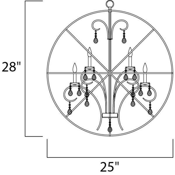 Orbit Oil Rubbed Bronze Six Light Pendant, image 5