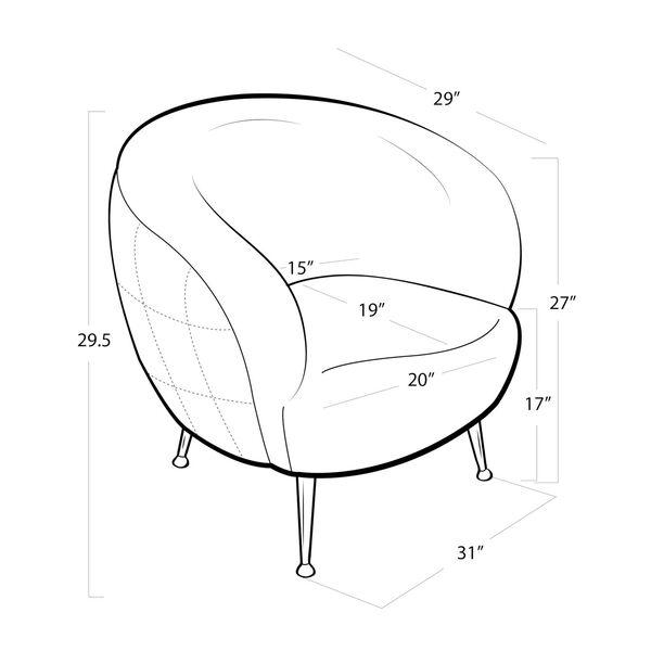 Beretta White Sheepskin Chair, image 5