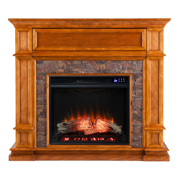 Belleview Sienna Electric Fireplace with Faux Stone, image 4