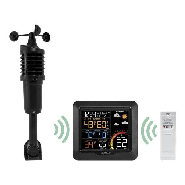Black Professional Wind Speed Weather Station, image 1