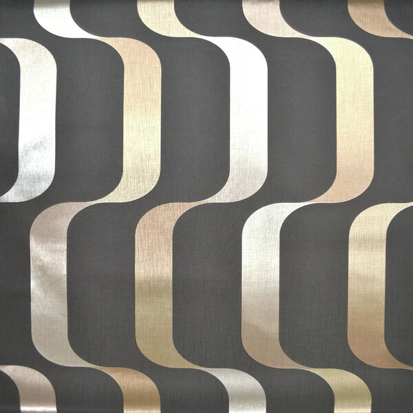 Mid Century Black and Taupe Wallpaper, image 1