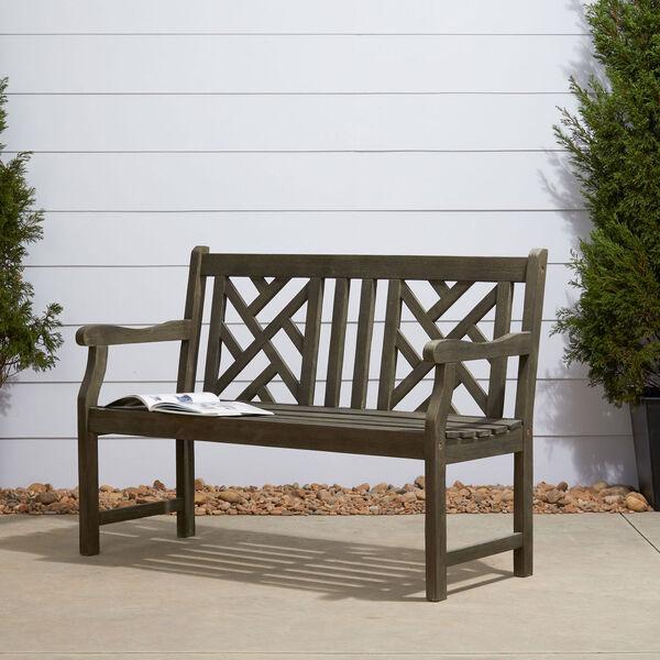 Renaissance Eco-friendly 4-foot Outdoor Hand-scraped Hardwood Garden Bench, image 1