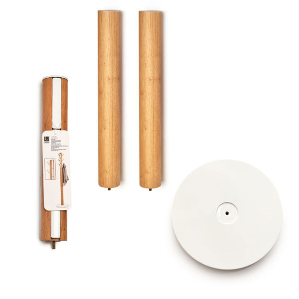 Flapper White and Natural Coat Rack, image 2