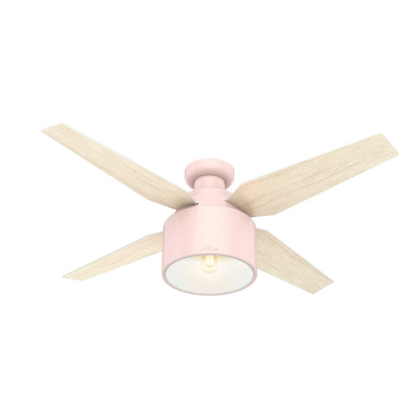 Cranbrook Low Profile Blush Pink 52-Inch LED Ceiling Fan, image 1