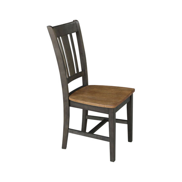 San Remo Hickory and Washed Coal Splatback Chair, Set of 2, image 3