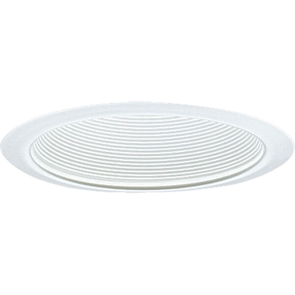 P8066-28:  6-Inch 120V White Incandescent Step Baffle Trim, image 1