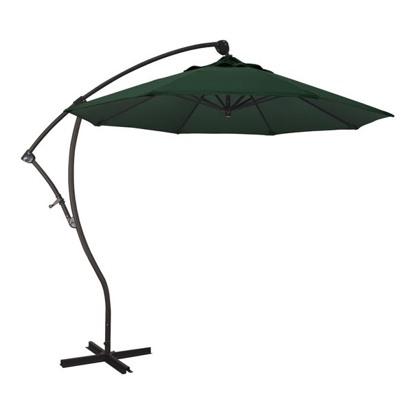 Bayside Bronze with Hunter Green Nine-Feet Olefin Patio Umbrella, image 1