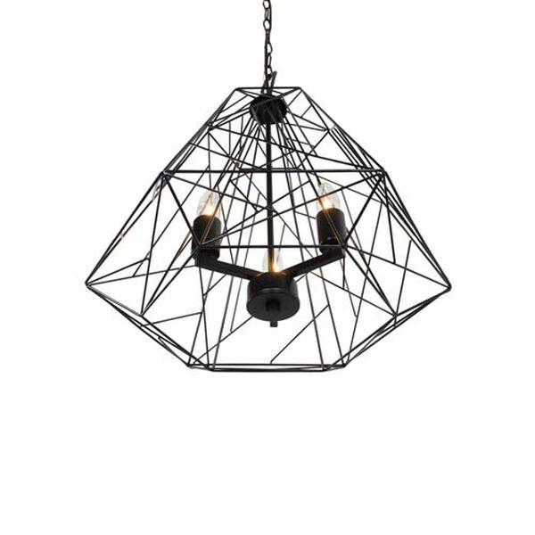 Wright Stuff Black Three Light Pendant, image 3