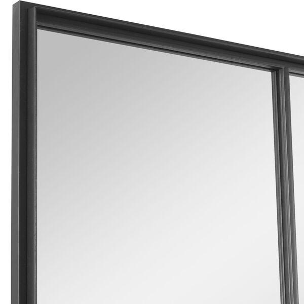 Rousseau Black Iron Window Mirror, image 6