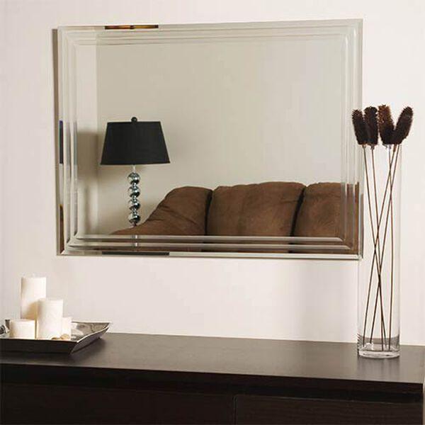 Frameless Tri-bevel Wall Mirror, image 4