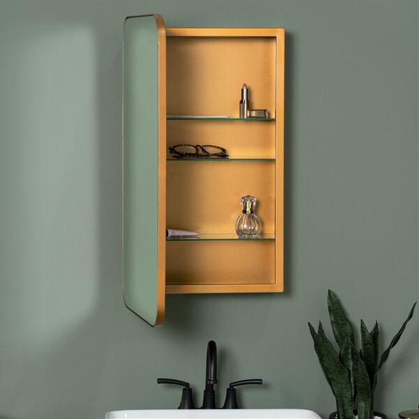 Hadley Gold Surface Medicine Cabinet with Adjustable Shelves, image 1