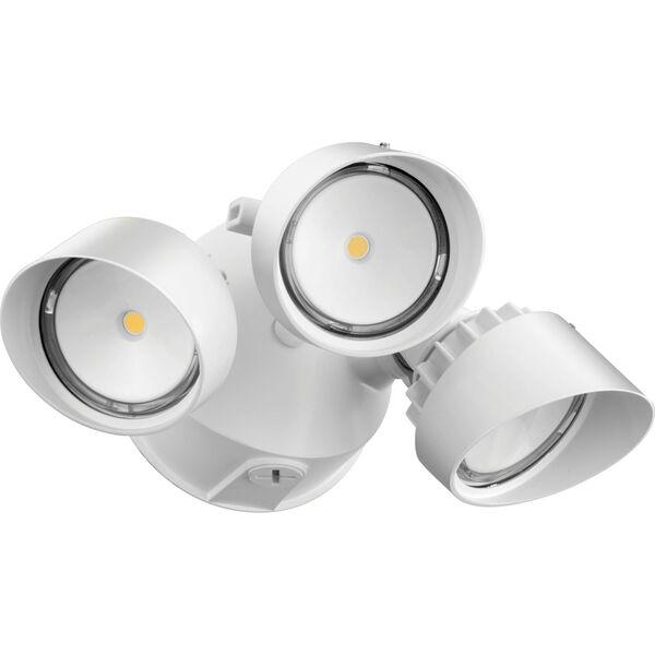 OLF 3RH 40K 120 WH M4 3-Head White Outdoor LED Round Flood Light, image 1
