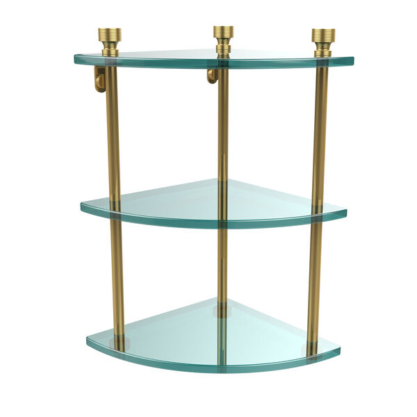 Foxtrot Triple Corner Glass Shelf, image 1
