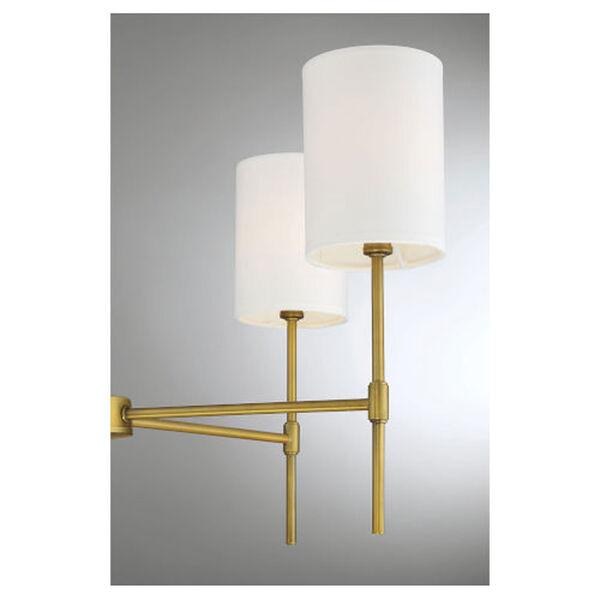 Kate Natural Brass Five-Light Chandelier, image 5