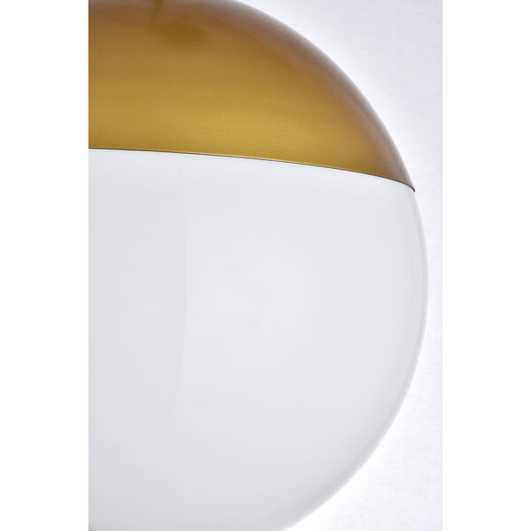 Eclipse Brass and Frosted White 12-Inch One-Light Pendant, image 6