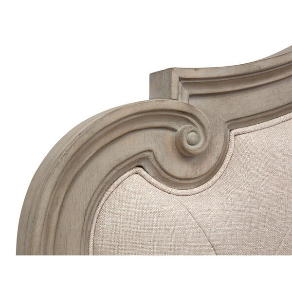 Jocelyn Weathered Taupe King Bed Upholstered Headboard, image 5