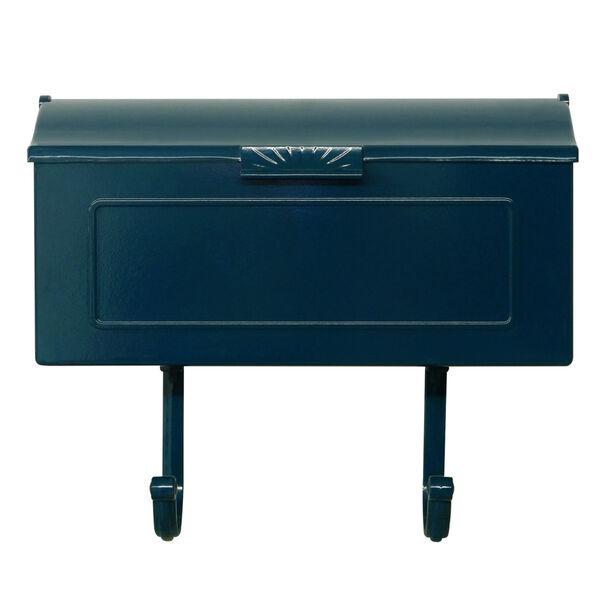 Nash Blue Horizontal Mailbox, image 1
