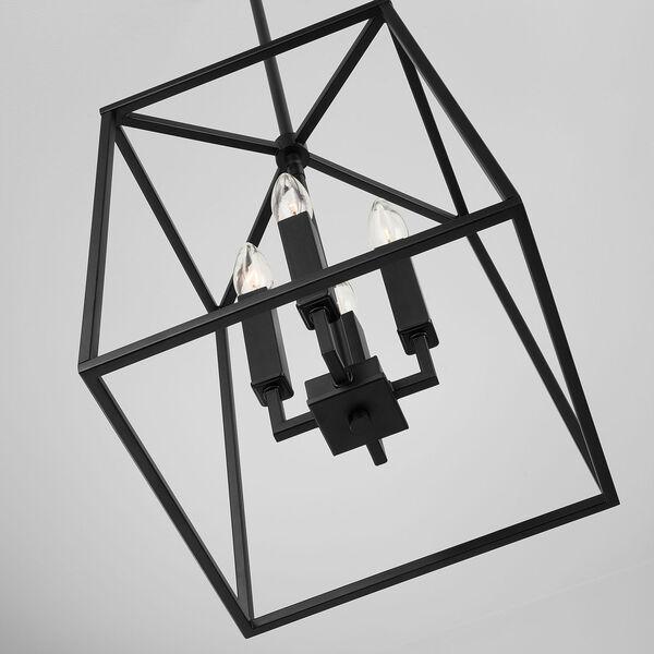 Thea Matte Black Four-Light Foyer Pendant, image 5