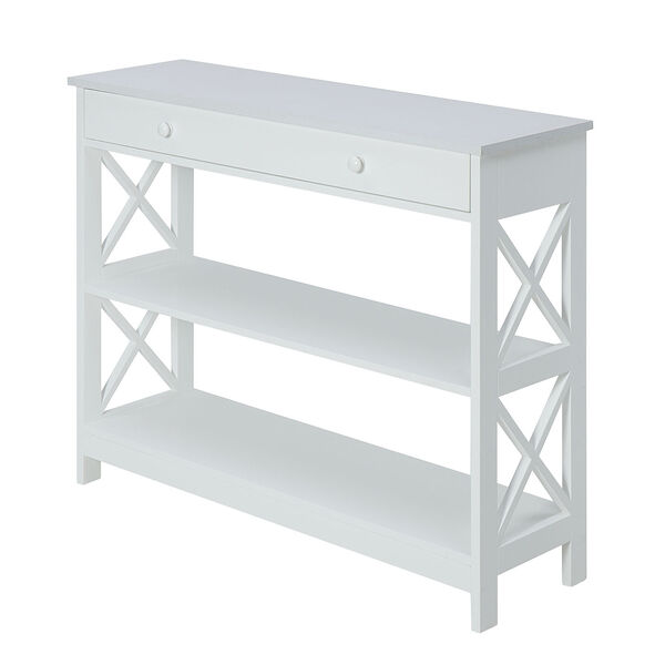 Oxford 1 Drawer Console Table, White, image 2