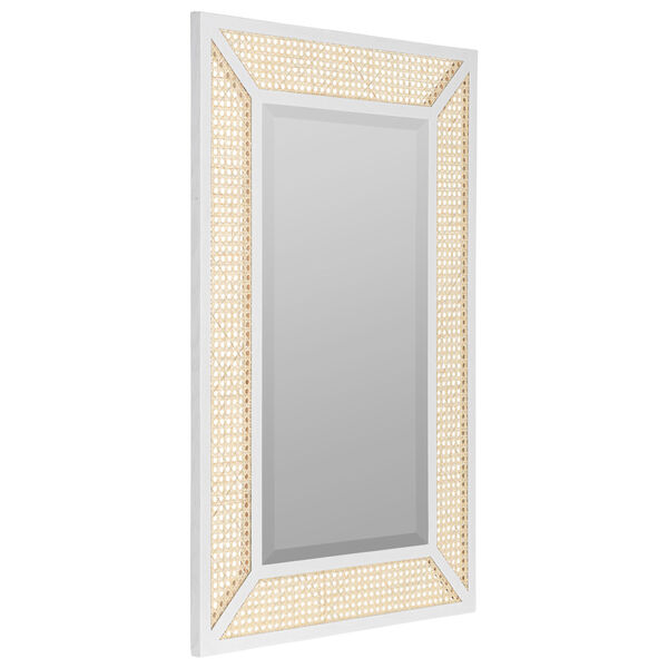 Dani Cane and White Wood 36-Inch x 24-Inch Wall Mirror, image 3