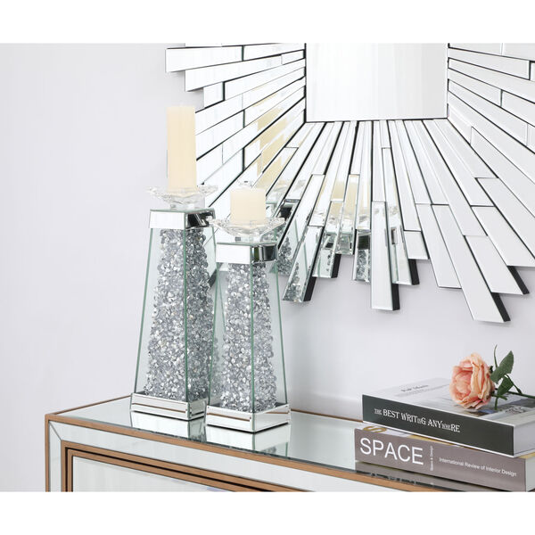 Sparkle Clear 5-Inch Crystal Candle Holder, image 4