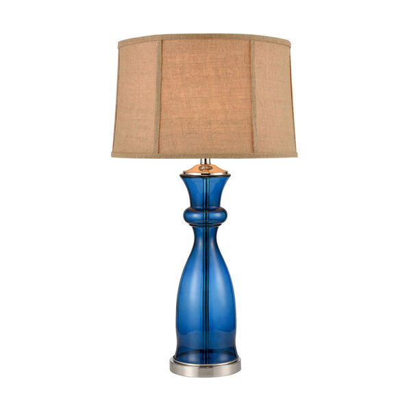 Drina Blue Polished Nickel One-Light Table Lamp, image 1