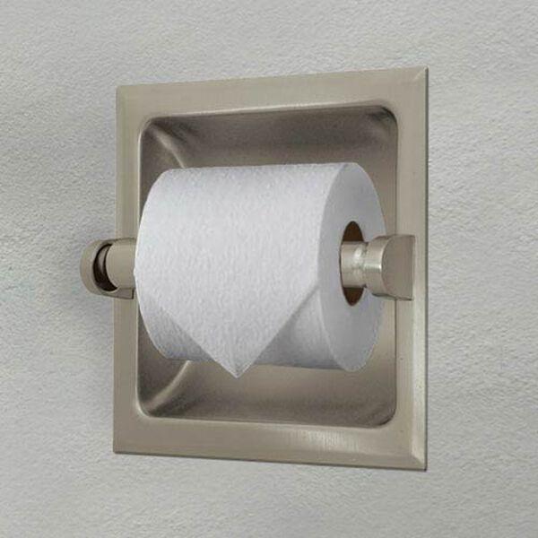 Recessed Satin Nickel Tissue Holder, image 2