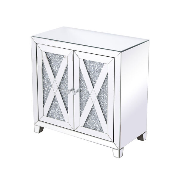 Modern Silver Crystal 28-Inch Cabinet, image 6