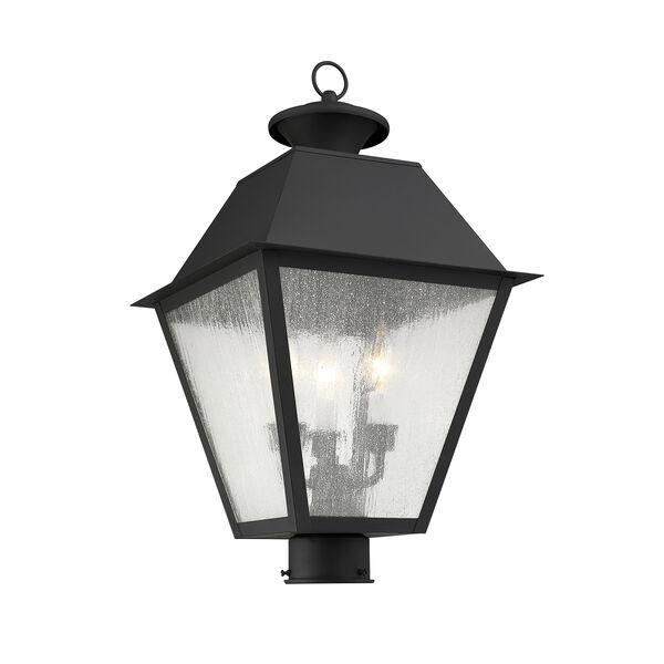 Mansfield Black Three-Light Outdoor Post Head, image 4