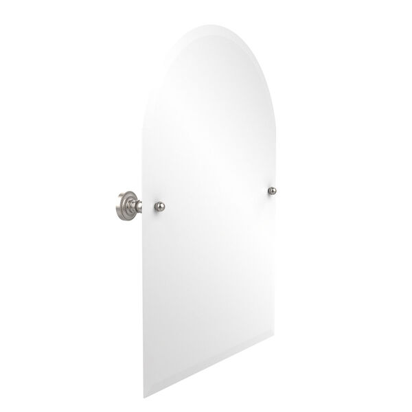 Dottingham Satin Nickel 21 Inch x 26 Inch Arched Top Mirror, image 1