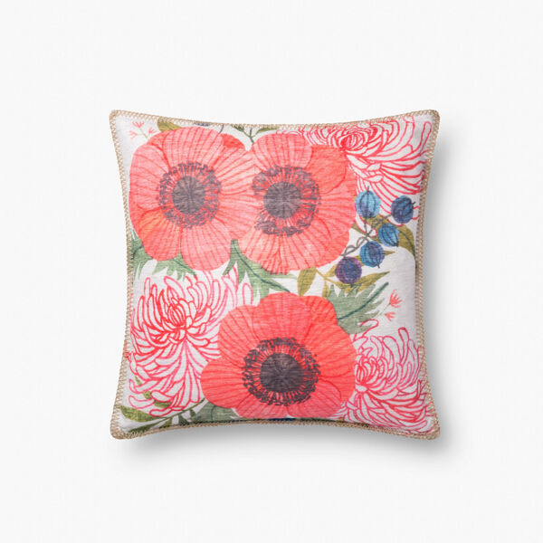 Multicolor Polyester 18 In. x 18 In. Throw Pillow Cover, image 1