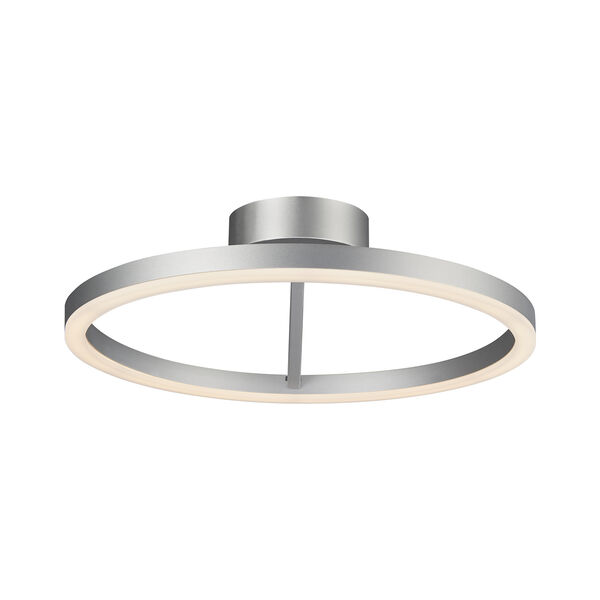 Zuben Silver LED Semi Flush Mount, image 5