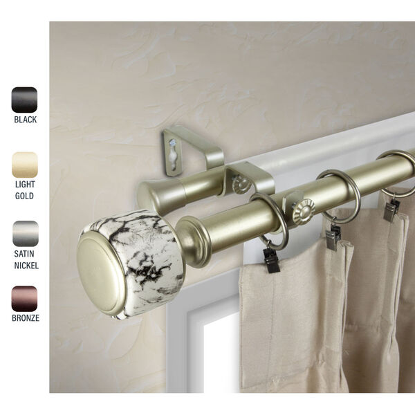 Josephine Gold 120-170 Inch Double Curtain Rod, image 2