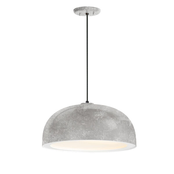 Dome Galvanized One-Light 16-Inch Outdoor Pendant, image 1