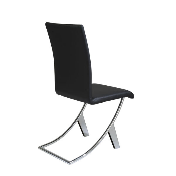 Cordelia Black 17-Inch Side Chair, Set of 2, image 4