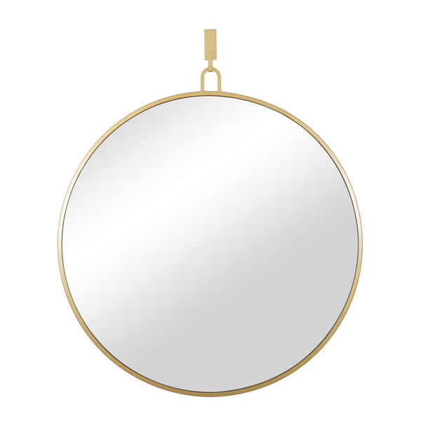 Stopwatch Gold Round Accent Mirror, image 1